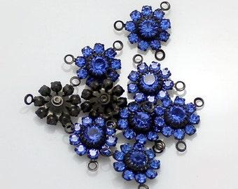 4pcs--Cristal Flowers, Choose Color, 13.7mm (B15-3)