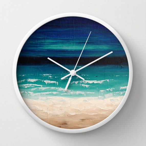 Beach Wall Clock, Turquoise