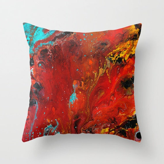 Red Pillow Cover Decorative Throw Pillows Abstract Pillow