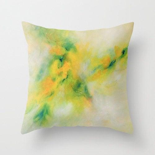 Yellow Green Decorative Pillows : Lime Pillow Green Pillow Yellow Pillow Designer Pillows