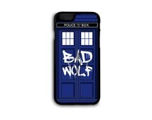 Doctor Who - Bad Wolf Tardis Case for iPhone 4/4S/5/5S/5C/6/6S/6+ and Samsung S5/S6/S7/Edge in Hard Plastic/Rubber FREE STANDARD SHIPPING*!