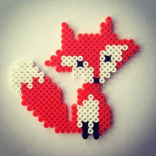 Fox Hama Perler Beads Handmade Hama Beads By Coralstuff