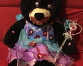 Tooth Fairy Tina is a Handmade Teddy Bear! Perfect gift for any holiday or event, with a twist. Made By Teddy Bear Nightmares