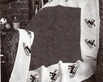 Skiing Motif Afghan Knitting Pattern Ski Snow Afghan Lapghan Blanket Knitting Pattern PDF Instant  Download