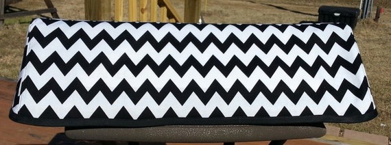Black and White Chevron Cover - Fits Silhouette Cameo