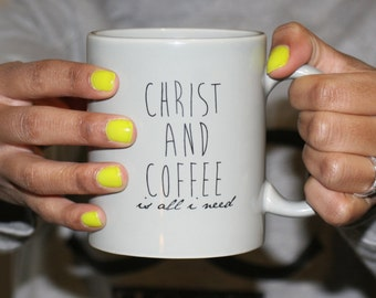 All gray mug made for the perfect coffee and christ lover!