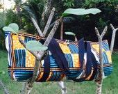 "African Wax Print ""Pyramids"" Yoga Mat Tote"