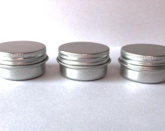 empty round tin,0.5oz  tin, lip balm tin, container, cream tin, makeup container.