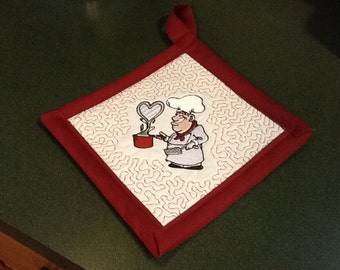 In the hoop pot holder machine embroidery design