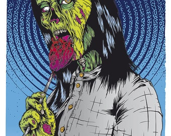 Zombie Girl - limited edition print