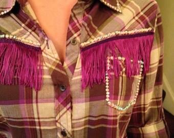 Rhinestoned counrty western shirt