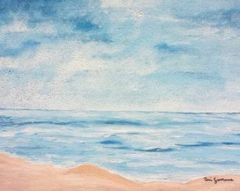 Framework, Oil Painting, sea, ocean, horizon, beach, infinity