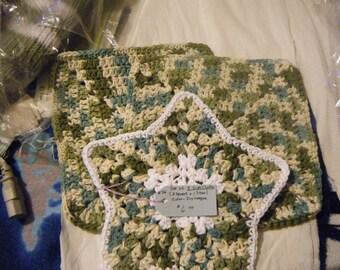 Handmade 3 Piece Dish Cloth Set