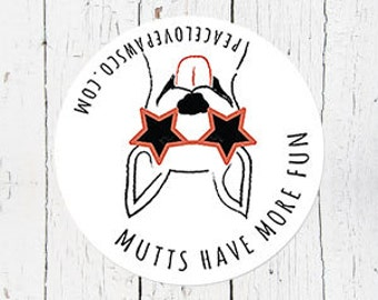 Mutts Have More Fun Car Magnet