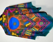 Colorful scarf, summer colors scarf,