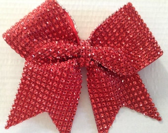 Red Cheer Bow