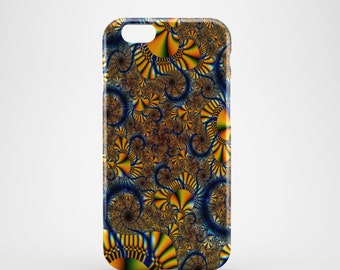 Abstract Blue & Yellow Phone case,  iPhone X Case, iPhone 8 case,  iPhone 6s,  iPhone 7 Plus, IPhone SE, Galaxy S8 case, Phone cover, SS113a