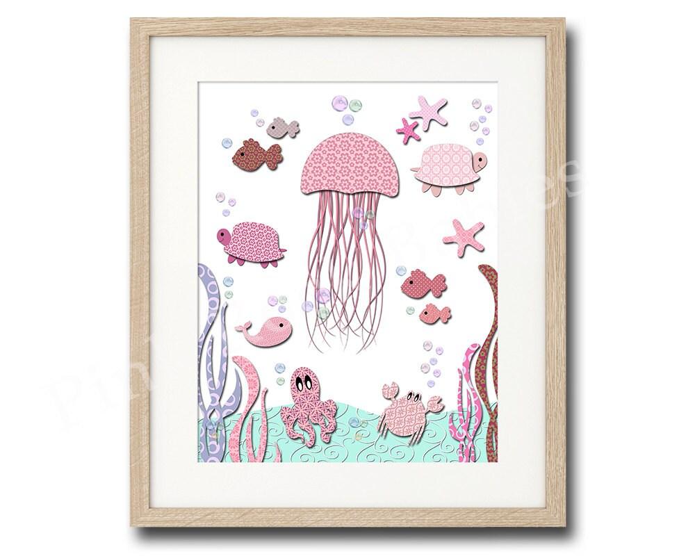 pink nursery wall art pink nautical nursery by pinkrockbabies. Black Bedroom Furniture Sets. Home Design Ideas
