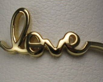 Sterling silver gold vermeil love ring
