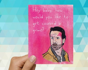 The Walking Dead Rick Grimes Funny Love Card