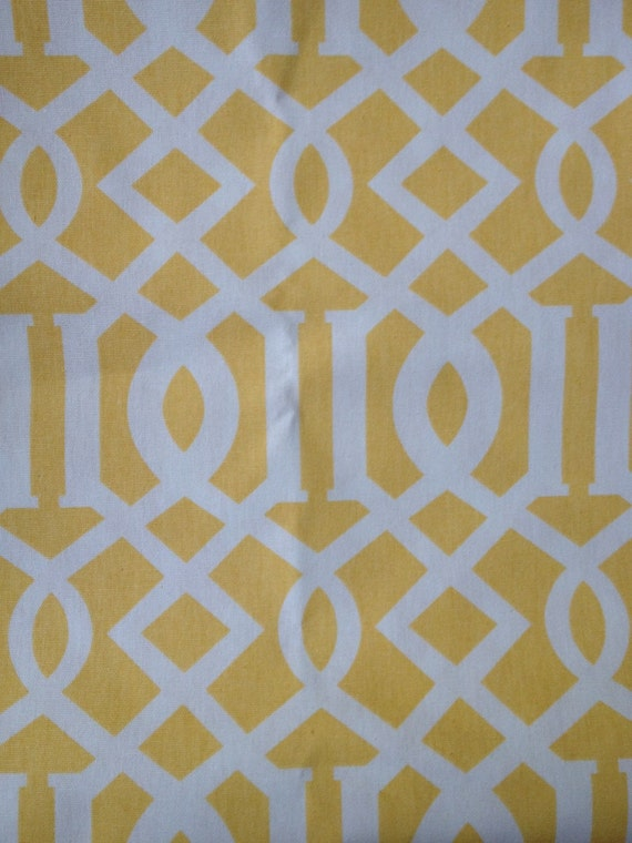 Fabric baby gate yellow and white by greatgates on etsy for Yellow baby fabric