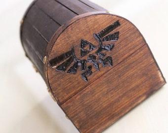 Wood-Burned Hylian Crest Legend of Zelda Chest (PREORDER)