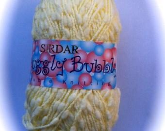 Baby Yarn Sirdar SNUGGLY BUBBLY DK Lemon Shade 0194 Small Pom Pom