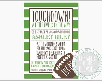 Football Baby Shower Invitation Baby Boy Invite