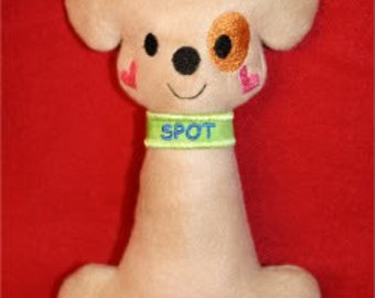Spot Softie Embroidery Machine Design for the 5x7 hoop