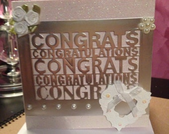 Engagement and Wedding card, Congratulations.6x6