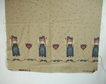 20 Inches Daisy Kingdom Country Angel  Border Fabric Past and Presents from1994 Rare and out of print