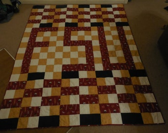 Four Color Geometric Quilt.  Personalize with your own colors or design!