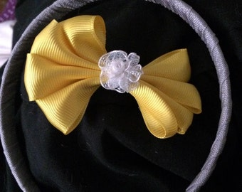 headband with detachable bow