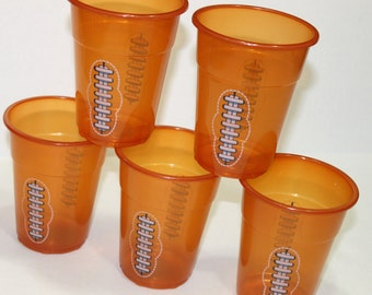 Football cup, drinking cup, disposable cup, favor cup (25), party favor, candy cup, favor, football party supplies