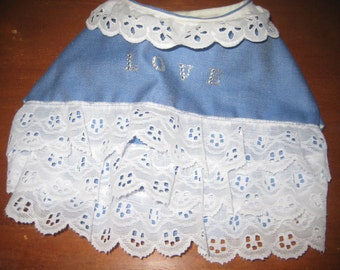 Beautyful Jeans Frilly Puppy Dress for Small Dogs