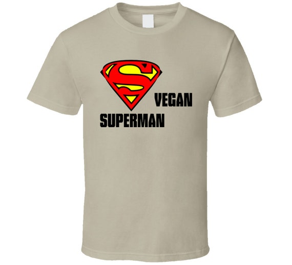 Vegan superman t shirt by earthbugzen on etsy for Make your own superman shirt