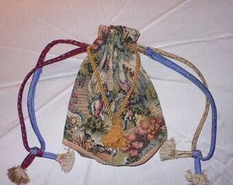 OOAK Drawstring Tapestry Bag