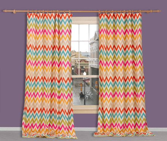 Curtain Drapes Orange Blue Pink Green Print Curtains Premier Prints ...