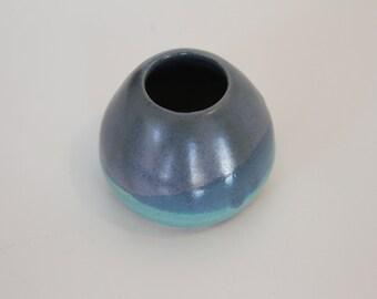 Hand thrown stoneware pottery vase