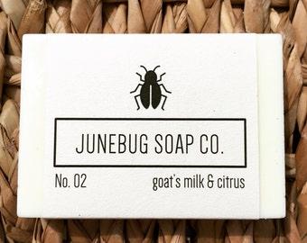 3 PACK: Goat Milk & Citrus Bar Soap - Citrus Soap, Natural Soap, Goat Milk Soap, Handmade Soap, Bar Soap, Homemade Soap, Sulfate Free