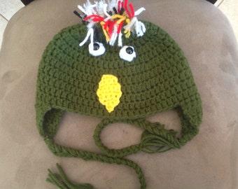 Parrot Crochet Hat