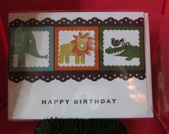 3 Layered Hand-stamped Greeting Cards