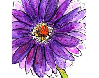 Purple Gerbera Daisy Digital Print