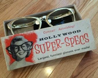On Sale!! Vintage Hollywood Super-specs Glasses
