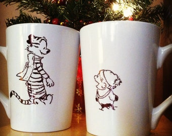 Calvin and Hobbes 2-mug set