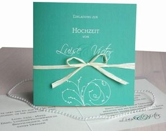"Wedding card ""mint"" quatr. Greeting card"
