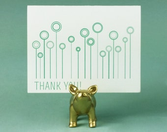 Letterpressed Thank You Cards - Pack of Five