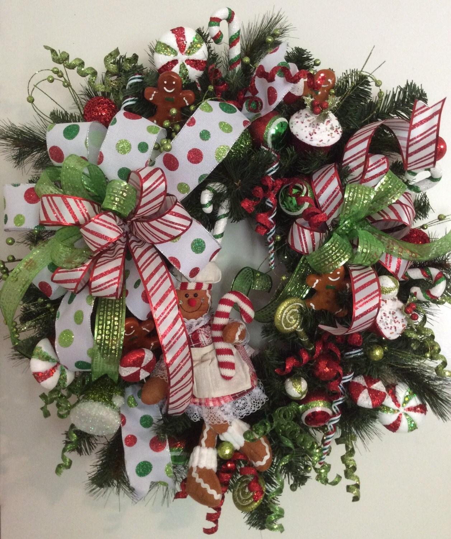 Gingerbread Luxury Christmas Wreath