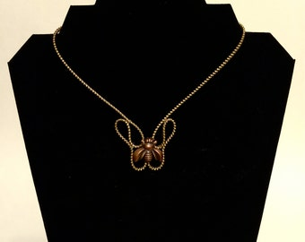 Bee- A Zipper Necklace