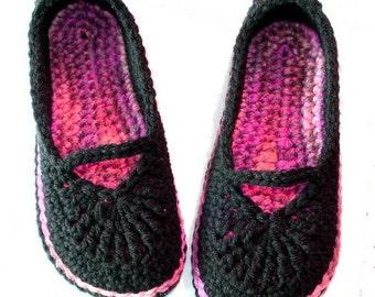 Crochet Pattern: Mary Jane Skimmers (women's size)